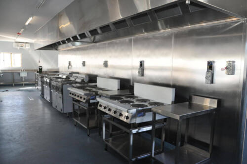 Happy Tappy Commercial Kitchens Gallery - 041 Kitchen Setup Row of Stoves Gas Ranges