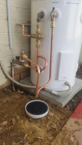 Happy Tappy Gallery Hot Water Unit Systems - Thermann 50 Ltr Storage and Piping