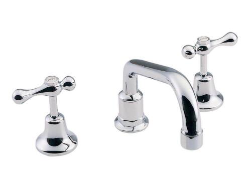 Happy Tappy Gallery - Posh Accessable-Aged Tapware Posh Bristol Hob Sink Set Lever Ceramic Disc Chrome 4 Star