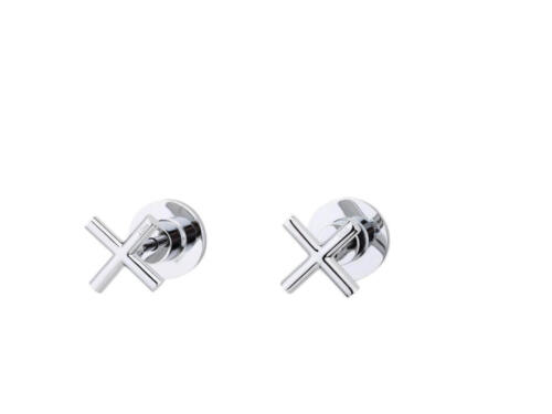 Happy Tappy Gallery Posh Bristol Range of Tapware -Posh Solus Wall Top Assembly Chrome Pair Hot and Cold